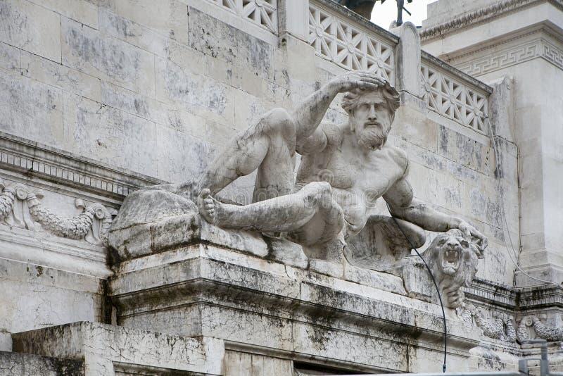 罗马,意大利- 2017年祖国阿尔塔雷della Patria的11月18日法坛,叫作国家历史文物对胜者伊曼纽尔II 免版税库存照片