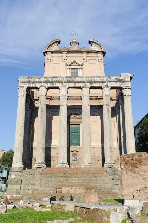 罗马,意大利- 2010年1月21日:大教堂阿米莉雅 免版税库存照片