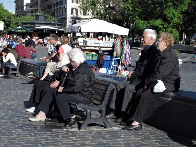 罗马,某些老年人 免版税图库摄影