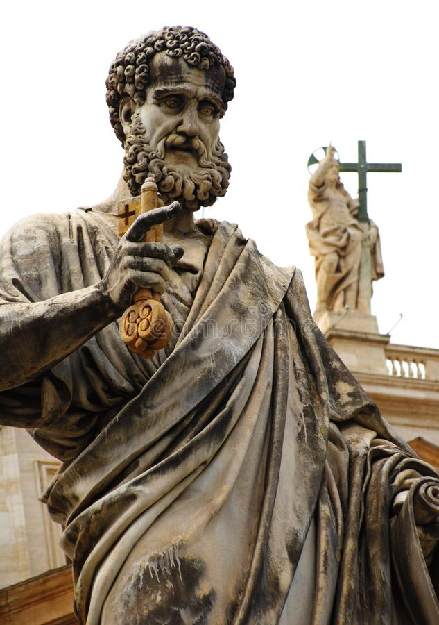 罗马,梵蒂冈,意大利 圣皮特圣徒・彼得& x27;s大教堂 免版税图库摄影