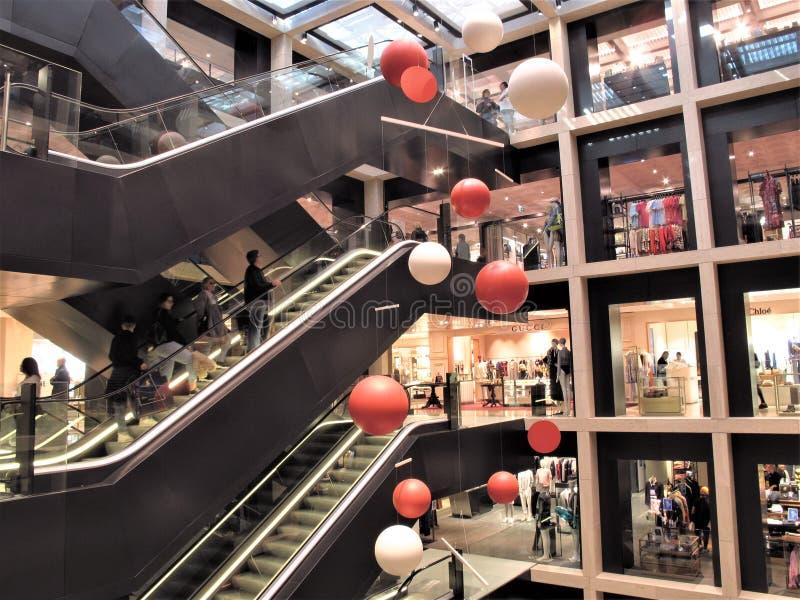 罗马,百货店Rinascente 免版税库存照片