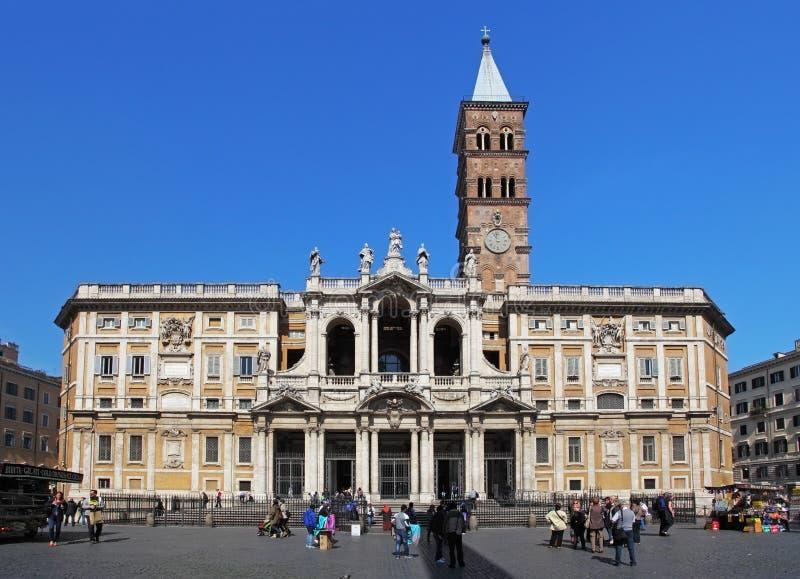 罗马, Itali 2014年4月14日 参观Sant罗马教皇的大教堂  免版税库存照片