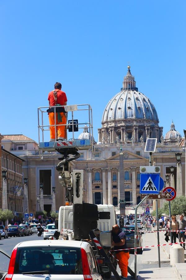 罗马-意大利的游人 图库摄影