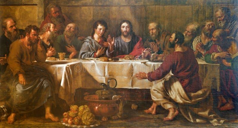 罗马-油漆前超级基督 库存照片
