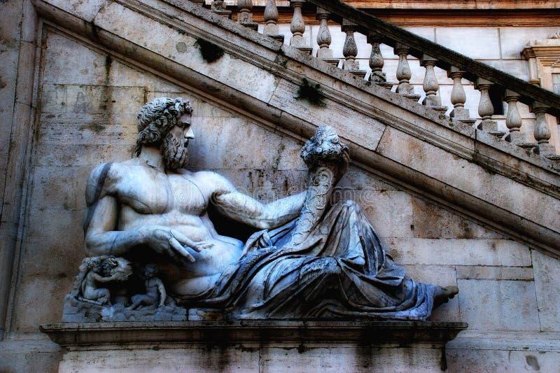 罗马- Campidoglio (Capitoline小山) 免版税库存照片
