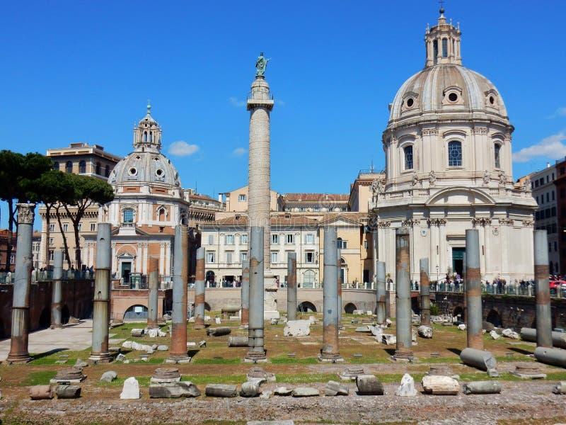 罗马- Trajan ` s论坛 免版税图库摄影