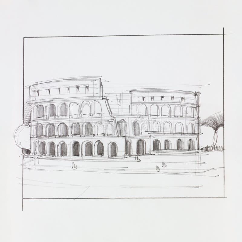 罗马Colosseum 库存例证