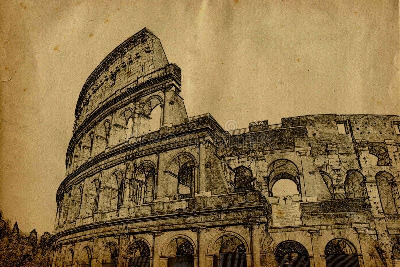 罗马colosseum 向量例证