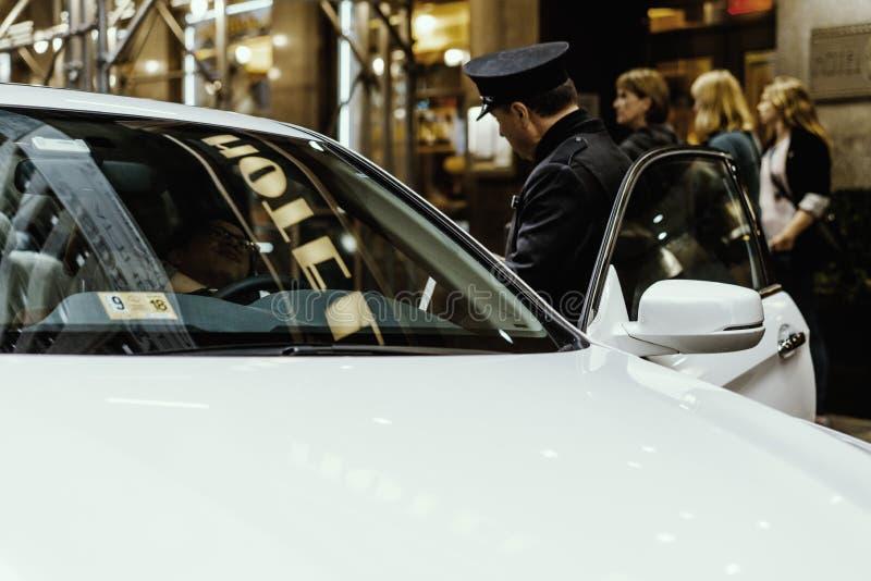 罚款在NY的警察司机 免版税库存图片