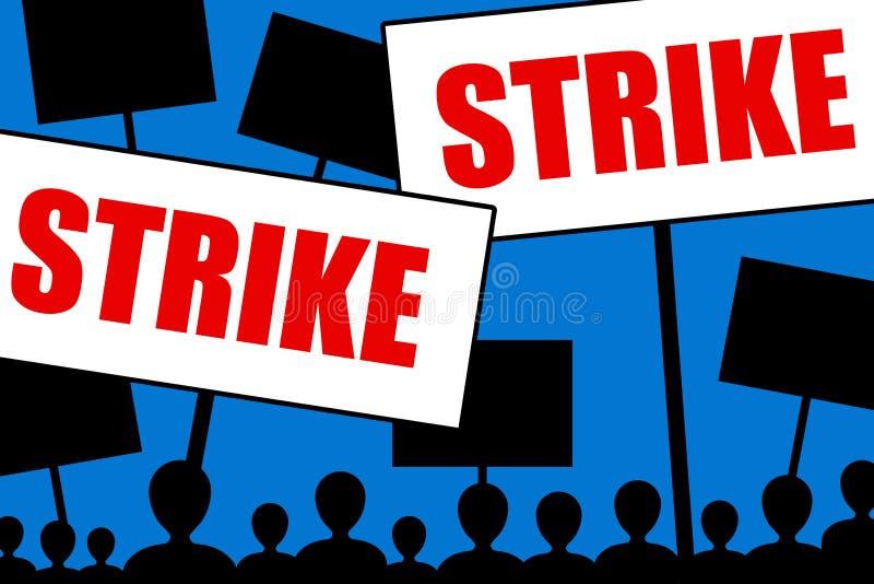 罢工 库存例证