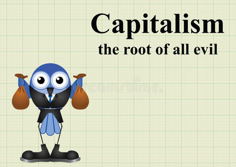 罪恶资本主义根  库存例证