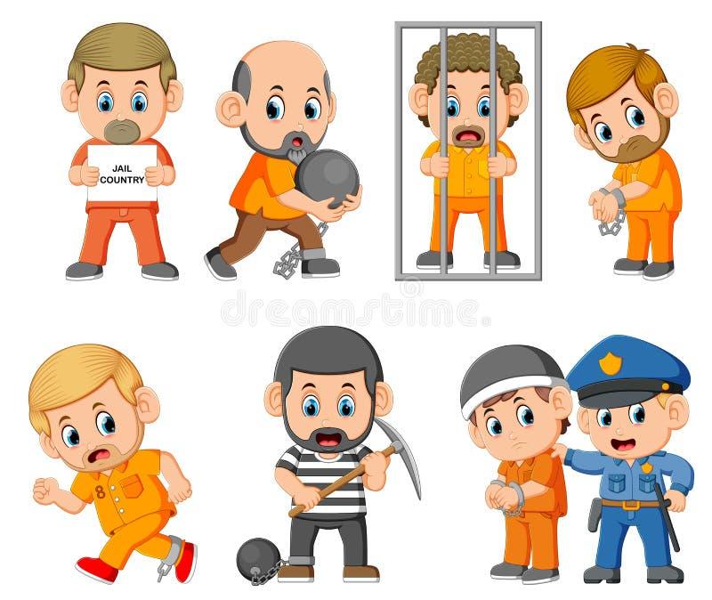 罪犯的处罚监狱的 向量例证
