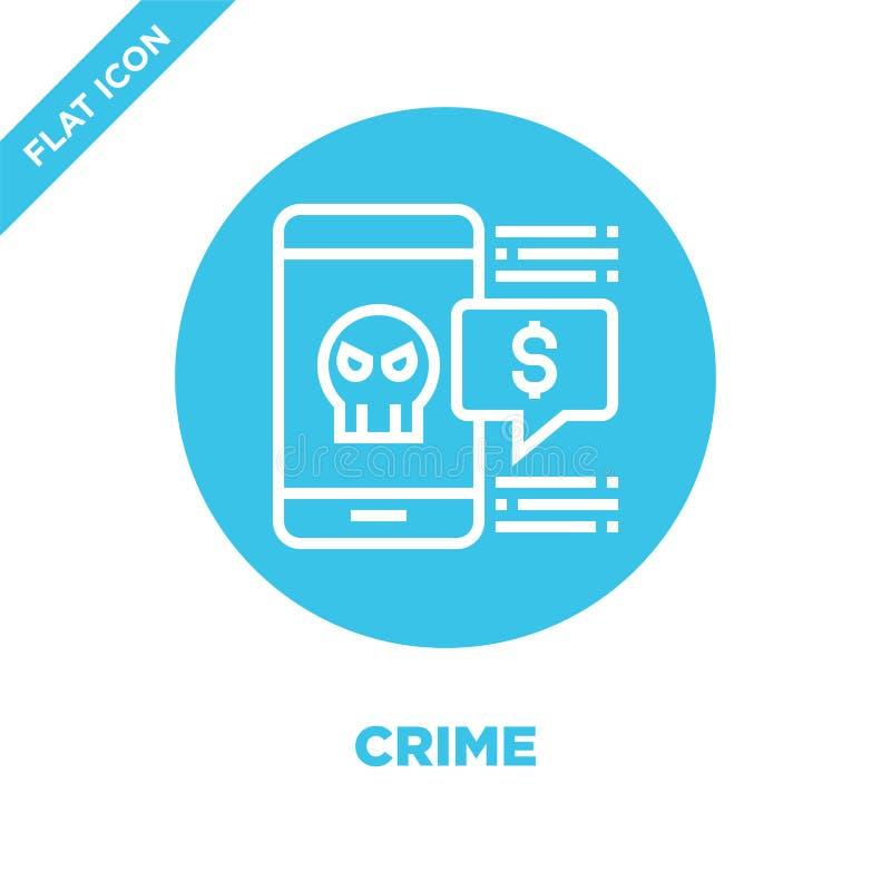 罪行从腐败元素汇集的象传染媒介 稀薄的线罪行概述象传染媒介例证 线性标志为使用 向量例证