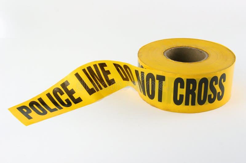 罪行警察场面磁带 图库摄影