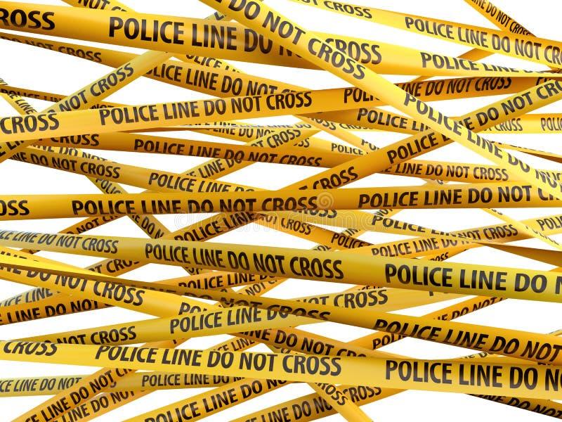 罪行警察线不横渡黄色丝带 皇族释放例证