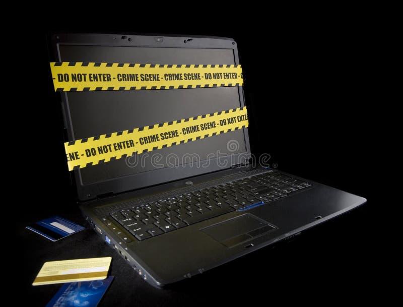 罪行cyber 图库摄影