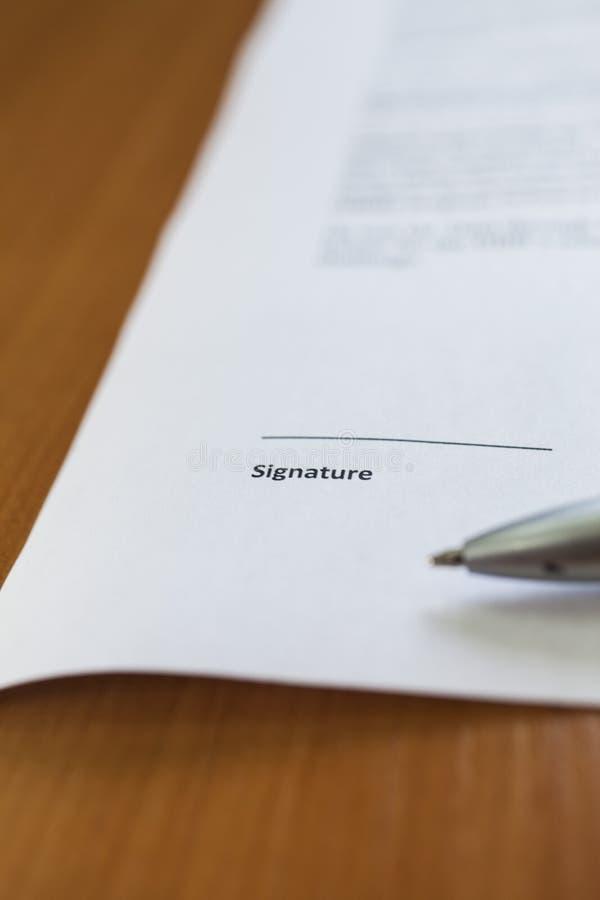 署名的地方 库存图片