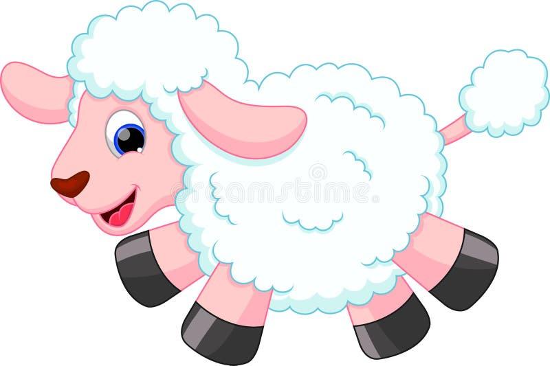 绵羊动画片 皇族释放例证
