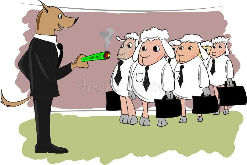 绵羊工作者群  皇族释放例证