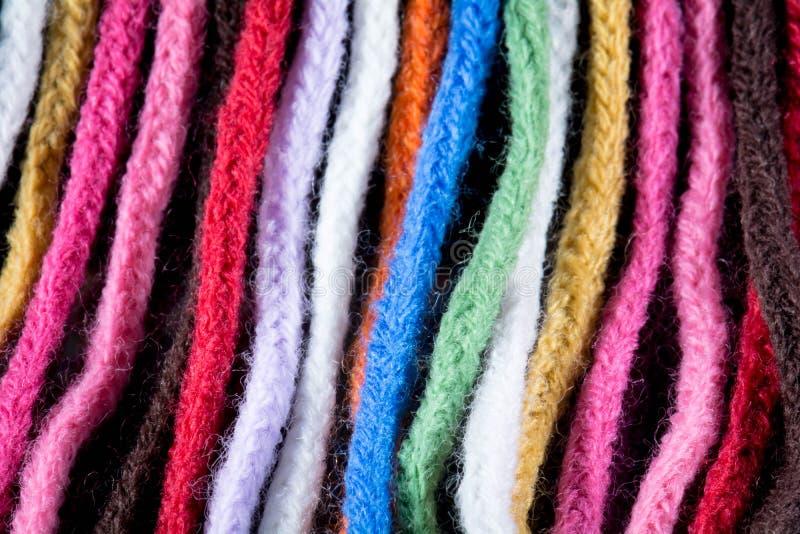 羊毛五颜六色的围巾 库存图片