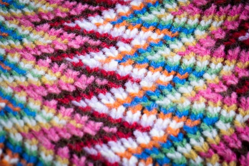 羊毛五颜六色的围巾 免版税图库摄影