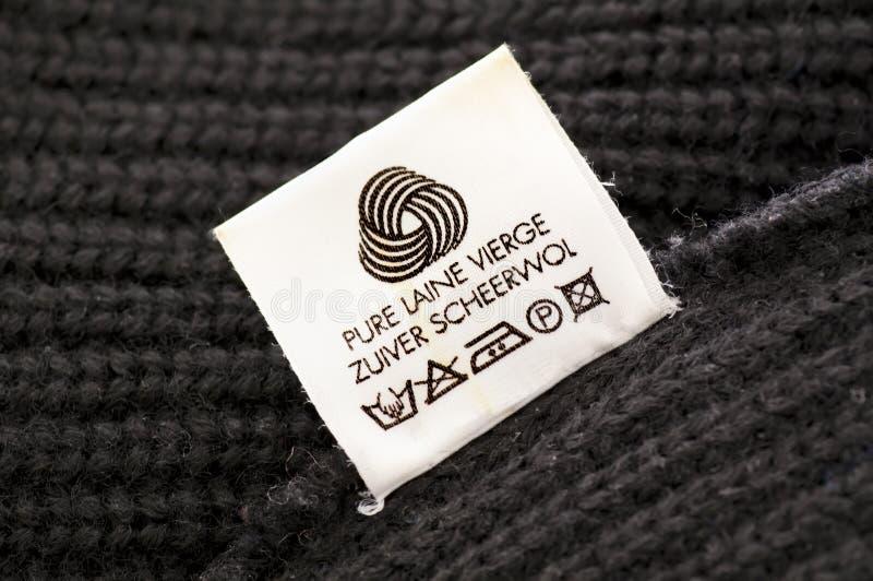 羊毛关心符号 库存照片