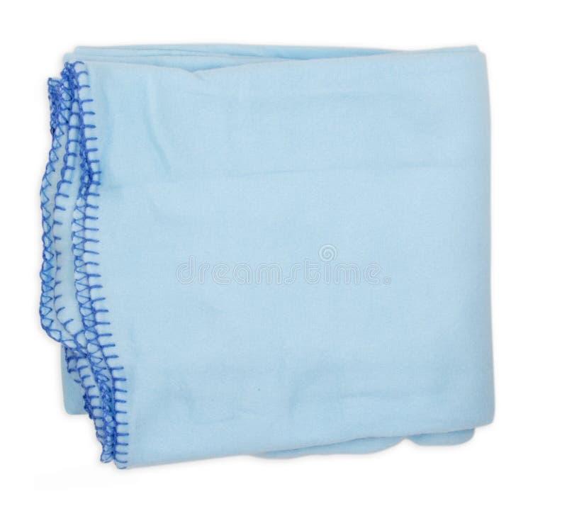 羊毛床罩 蓝色床罩 免版税图库摄影
