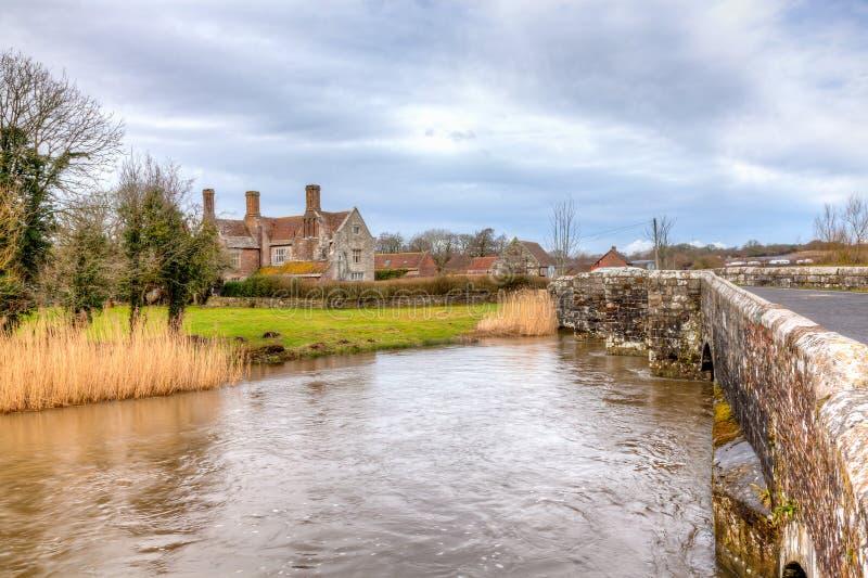 羊毛的河Frome 库存图片