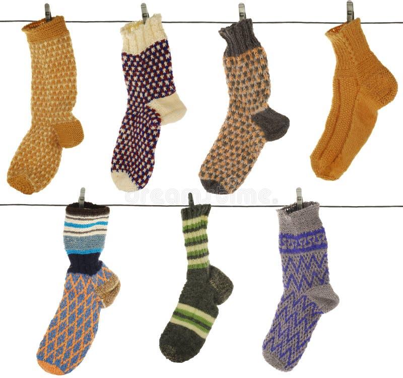羊毛礼品的袜子 库存照片