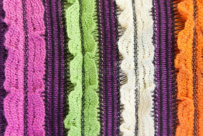 羊毛编织的纹理 免版税图库摄影