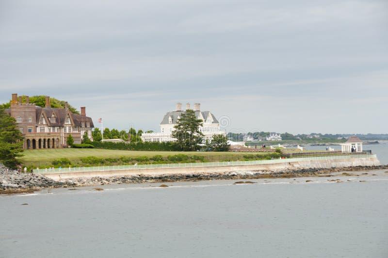 绵羊点小海湾-纽波特-罗德岛州 免版税图库摄影