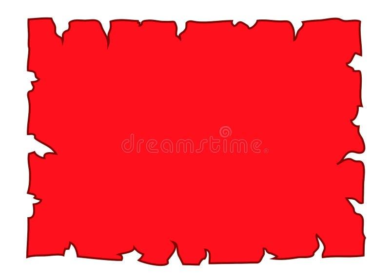 羊皮纸空白文件红色 库存例证