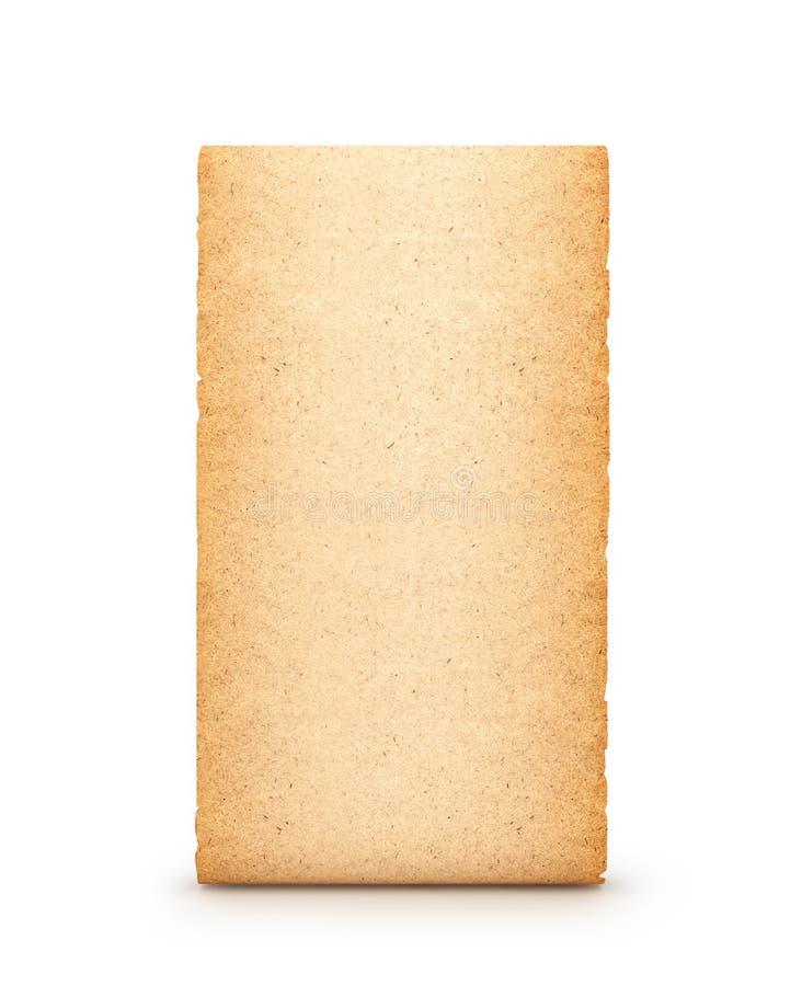 羊皮纸,纸卷,隔绝在白色背景 3d 免版税图库摄影