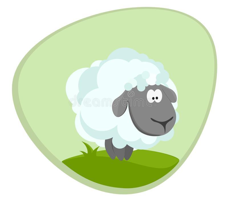 羊羔在草甸 也corel凹道例证向量 图库摄影