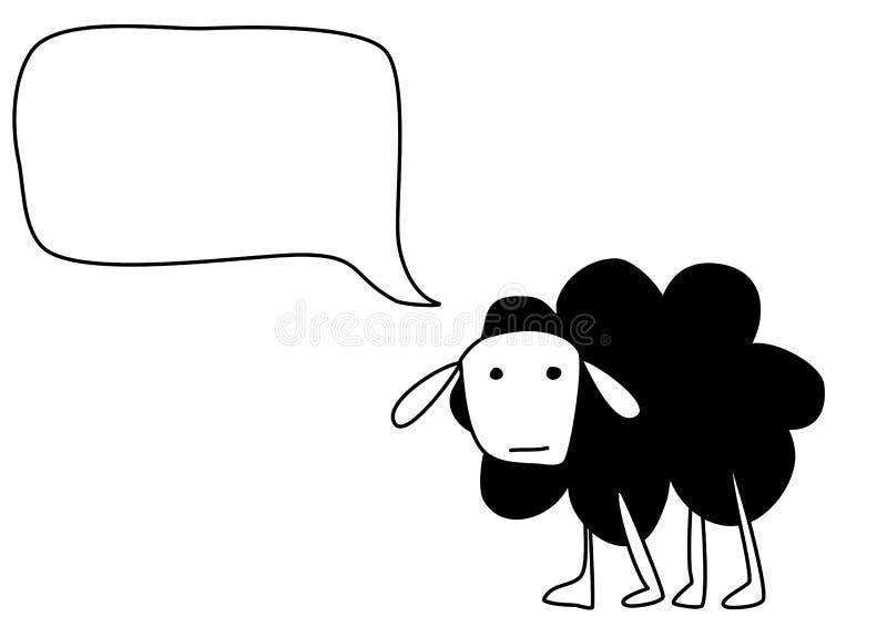 绵羊走 免版税库存图片