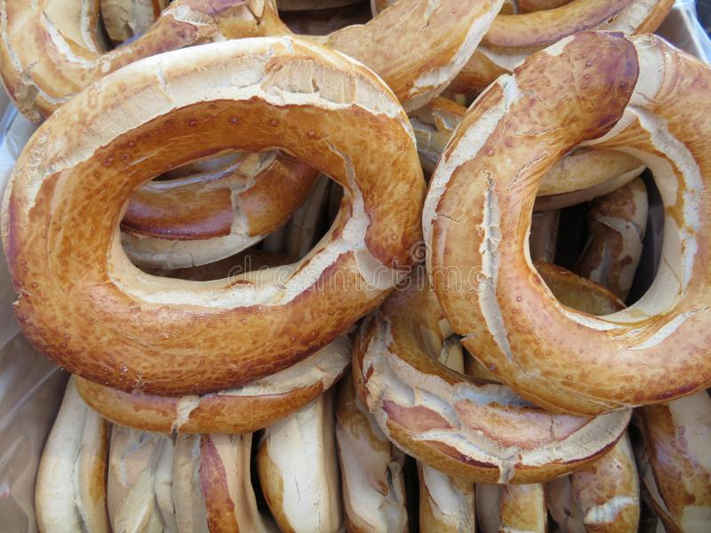 美丽和可口油炸圈饼特点有一个宜人的味道的西班牙 库存图片