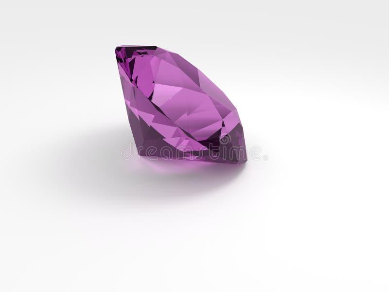 美丽和可贵的桃红色金刚石 向量例证