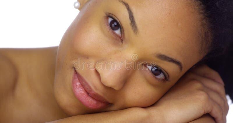 美丽和性感的非洲妇女 免版税库存图片