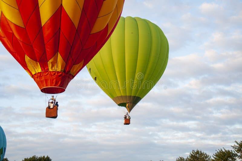 美丽多彩的热空气Baloon-29 免版税库存照片