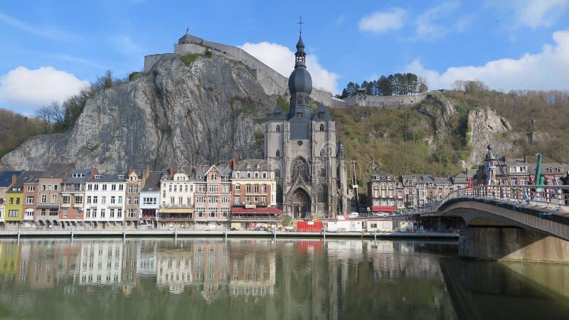 美丽如画的市迪南,比利时 免版税库存照片