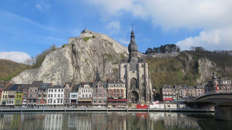 美丽如画的市迪南,比利时 库存照片