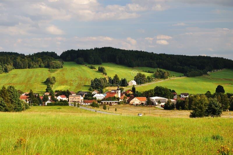 美丽如画的村庄 库存照片