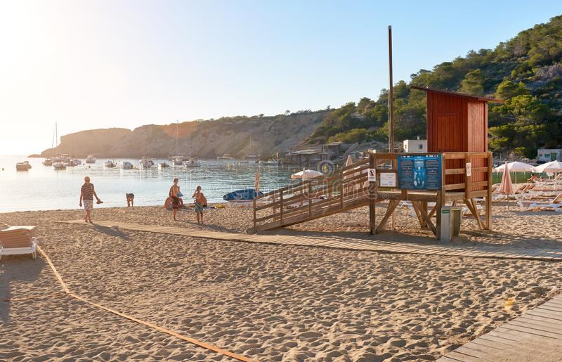 美丽如画的Cala Vadella海滩 图库摄影