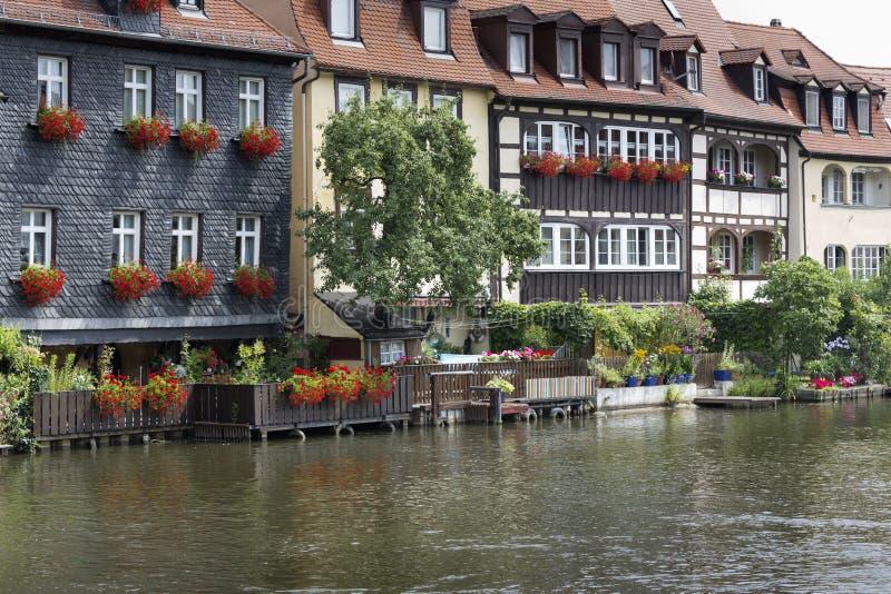 美丽如画的房子在琥珀,德国 库存图片