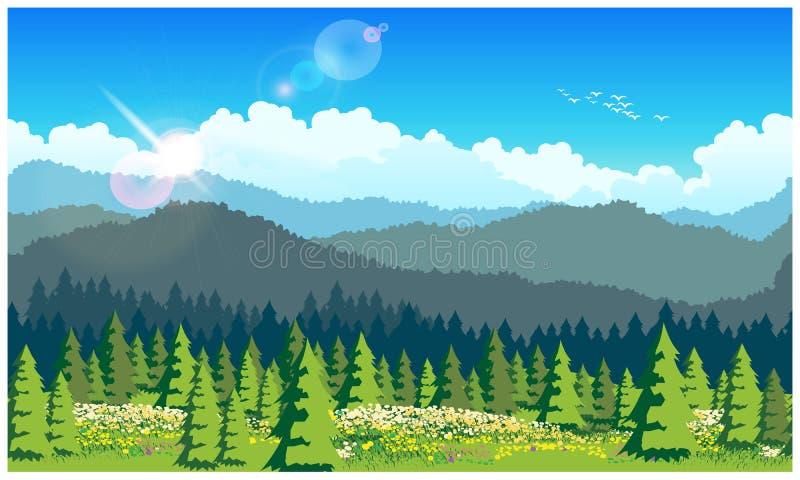 美丽如画的森林 皇族释放例证