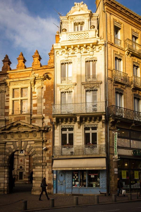美丽如画的角落在老镇 图卢兹 法国 库存照片