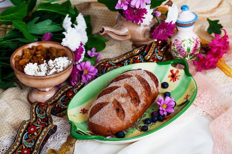 美丽捷克nat在静物画的大面包 图库摄影