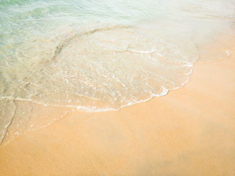 美丽海滩的海 免版税库存图片