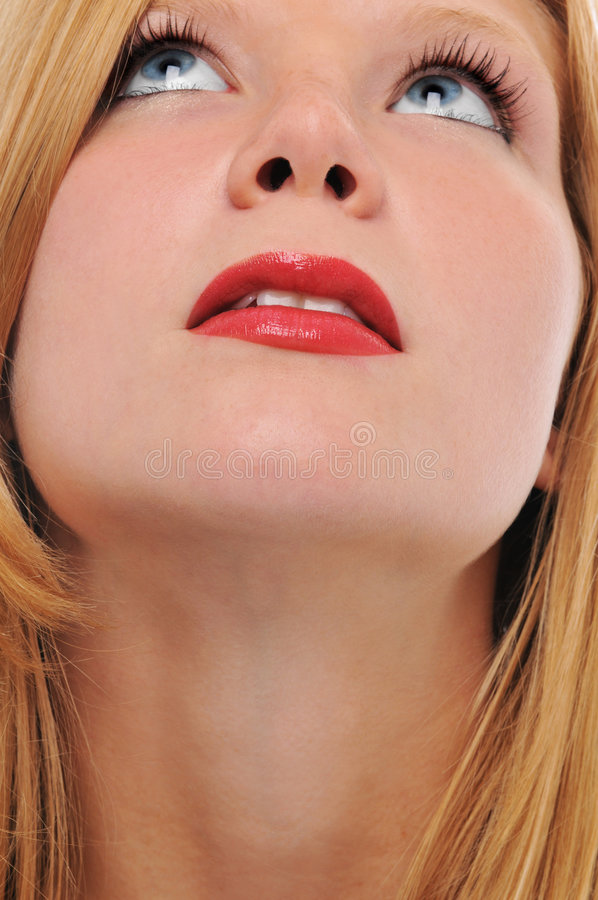 美丽白肤金发 免版税图库摄影