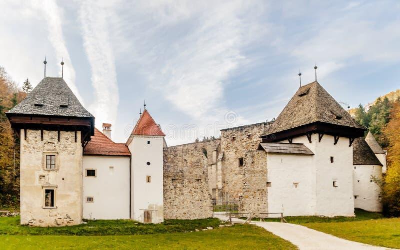 美丽的Žiče Charterhouse一个前卡尔特教团修道院,斯洛文尼亚科尼采的自治市的,斯洛文尼亚 免版税图库摄影